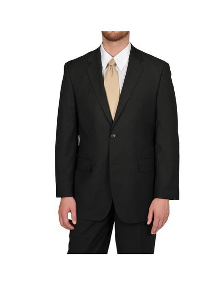 Mens Black Single Breasted Classic Fit Two Button Suit Separates Any Size Jacket Any Size Pants, act now only $189.00