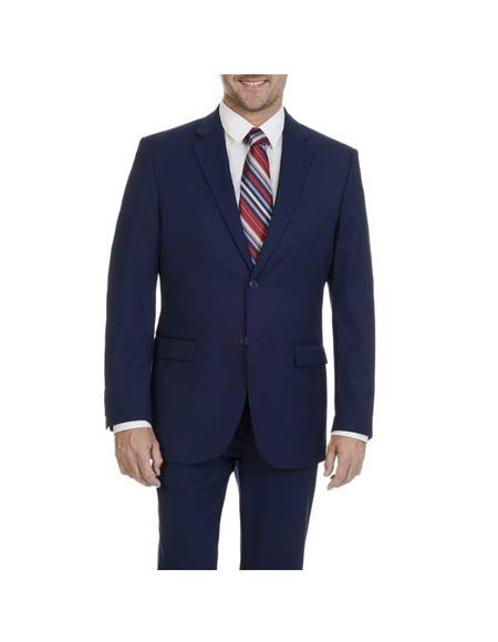 Mens Blue Two Button Single Breasted Suit Notch Lapel Suit Separates Any Size Jacket Any Size Pants, act now only $189.00
