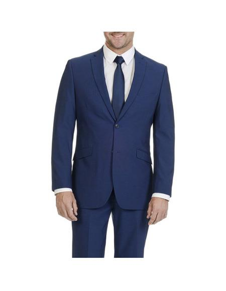 Mens Single Breasted Blue Two Button Slim Fit Suit Separates Any Size Jacket Any Size Pants, act now only $189.00