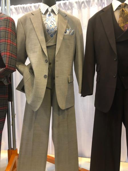 Mens Single Breasted Notch Lapel Den Suit, act now only $160.00