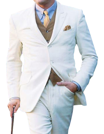 Mens Great Three Piece Off White Suit, act now only $119.00
