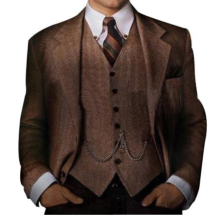 Mens Great Gatsby Men's Clothing Costumes Suits Style For Men Brown, act now only $600.00