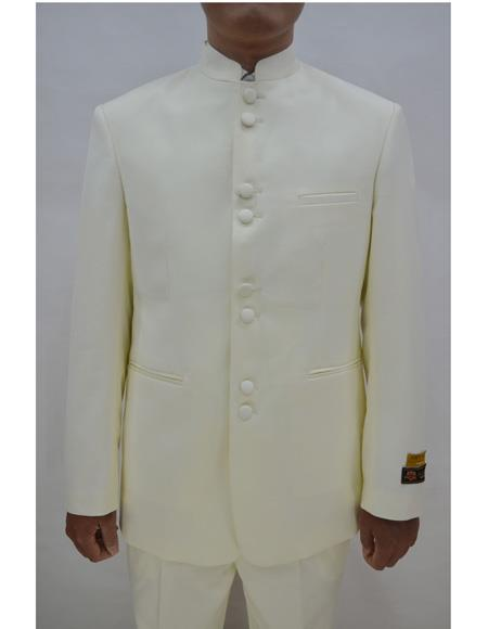 Marriage Groom Wedding Indian Nehru Suit Jacket Mens Blazer Ivory, act now only $99.00