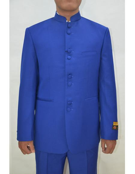Marriage Groom Wedding Indian Nehru Dress Suits for Men Jacket Mens Blazer Royal ~ Blue, act now only $99.00