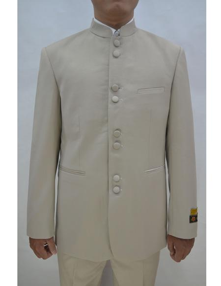 Marriage Groom Wedding Indian Nehru Suit Jacket Mens Blazer Tan, act now only $99.00