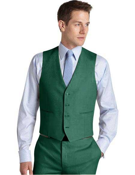 Mens Suit Vest Augusta Green, act now only $99.00