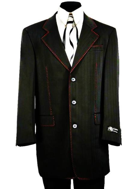 Citywalker Designer Matte Stitched 2pc Zoot Suit Set, act now only $189.00