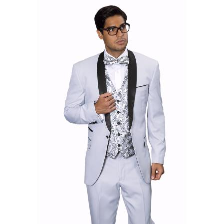 Mens Capri Silver Tuxedo Suit, act now only $199.00