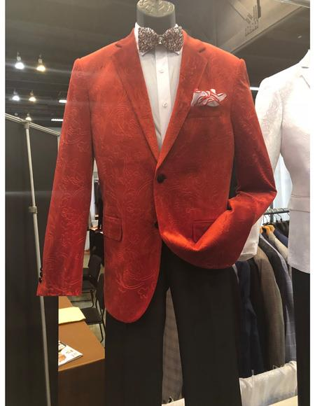 Mens Red Single Breasted Two Button Suit, act now only $1200.00