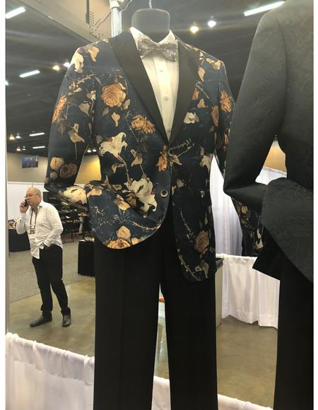 Mens Single Breasted Dark Navy Blue Suit One Button, act now only $1200.00