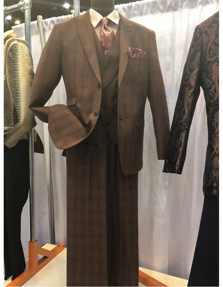 Mens Single Breasted Brown Two Button Suit, act now only $1200.00