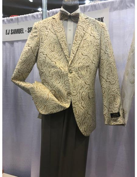 Mens Cream Single Breasted Two Button Suit, act now only $1200.00