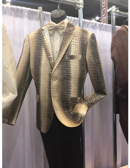 Mens White ~ Black Single Breasted Suit Two Button, act now only $1200.00