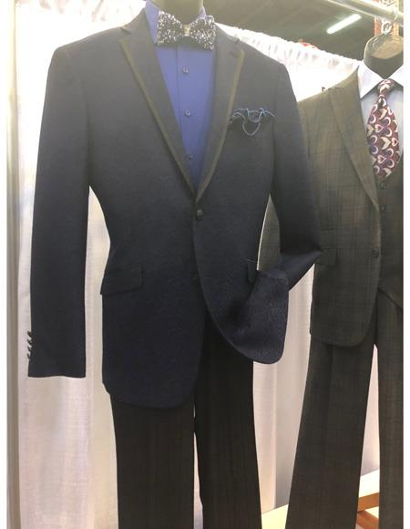 Mens Dark Blue Single Breasted Suit, act now only $1200.00