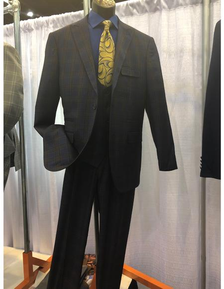 Mens Single Breasted Two Button Brown Suit, act now only $1200.00