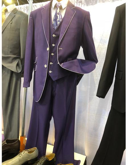 Mens Purple Two Button Single Breasted Suit, act now only $1200.00