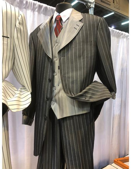 Mens Single Breasted Black Four Button Suit, act now only $1200.00