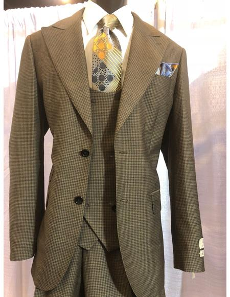 Mens Brown Two Button Single Breasted Suit, act now only $1200.00