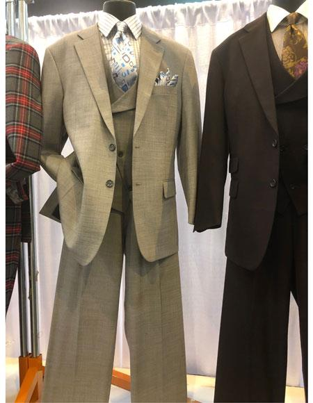 Mens Grey Single Breasted Notch Lapel Suit, act now only $199.00