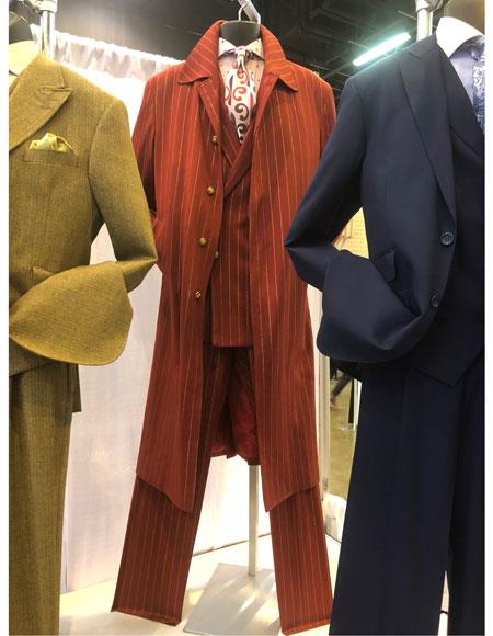 Mens Single Breasted Red Suit Button Closure, act now only $139.00