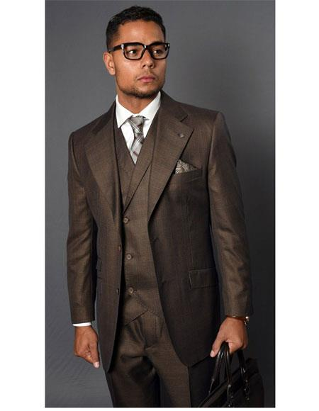 Mens Vernaza Coffee Two Button Single Breasted Suit, act now only $189.00