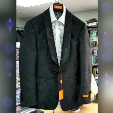 Mens Shawl Lapel Single Breasted Black Suit, act now only $199.00