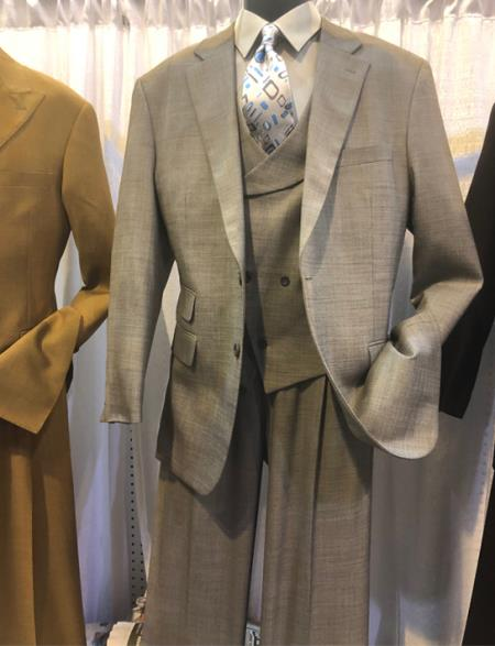 Mens Notch Lapel Single Breasted Den Suit, act now only $160.00