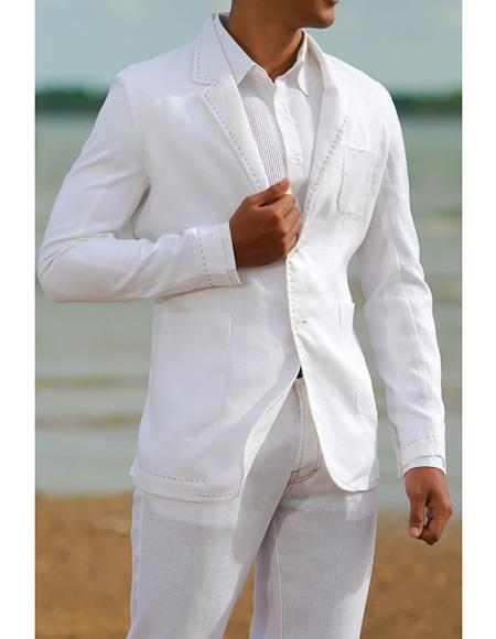 Mens Beach Wedding Attire Suit Menswear White $199, act now only $199.00