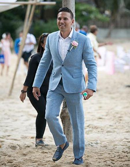 Mens Beach Wedding Attire Suit Menswear Blue $199, act now only $199.00