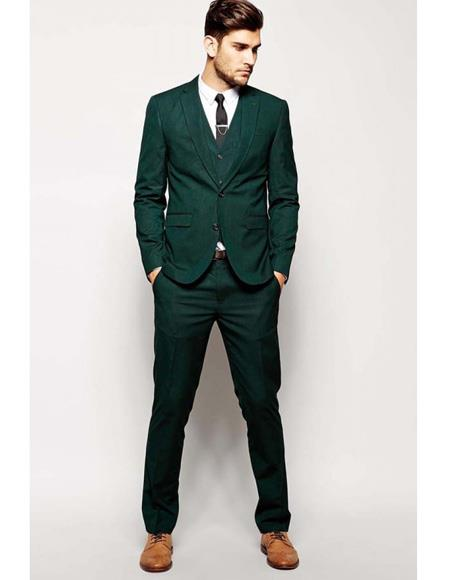 Mens Beach Wedding Attire Suit Menswear Green $199, act now only $199.00