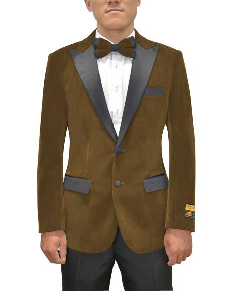 Mens Two Button Peak Lapel Brown Single Breasted Suit, act now only $199.00