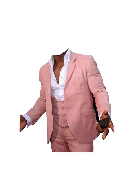 Mens Beach Wedding Attire Suit Menswear Pink $199, act now only $199.00