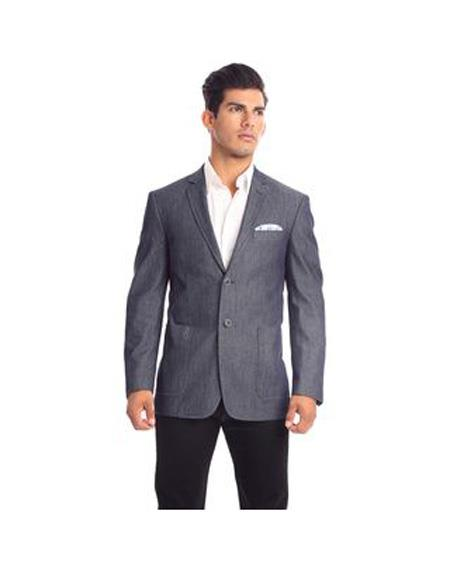 Verno Moretti Men's Notch Lapel Solid Pattern Slim Fit Suit In Dark Grey, act now only $92.00