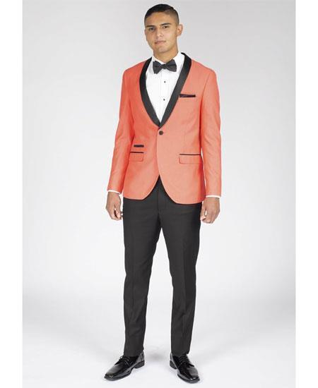 Men's Coral One Button Slim Fit Suit, act now only $199.00