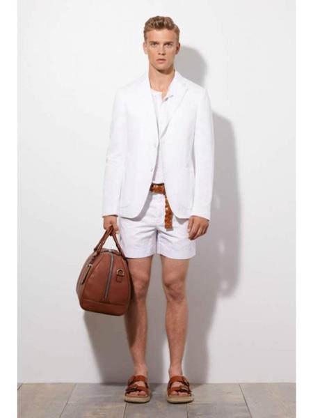 Men's Linen Fabric summer business suits with shorts pants set, act now only $299.00