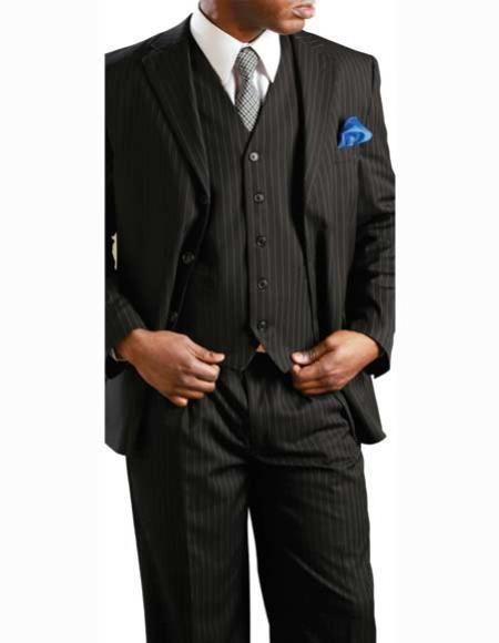 Men's Two Button Black Suit, act now only $165.00