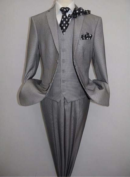Men's Two Button Black White Piece Suit, act now only $165.00
