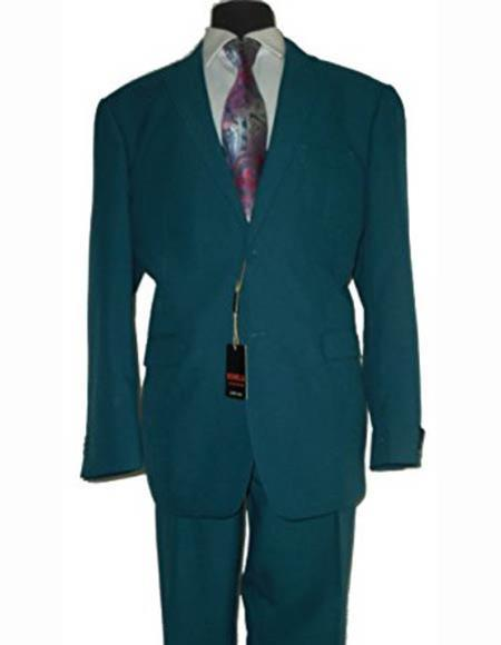 Men's Two Button Dark Teal Suit, act now only $110.00