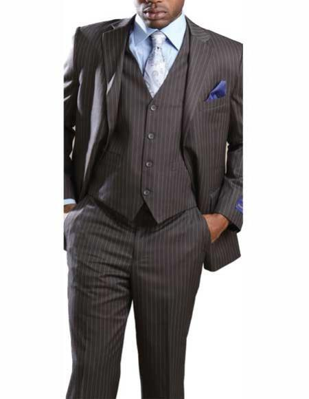 Men's Two Button Grey Suit, act now only $165.00