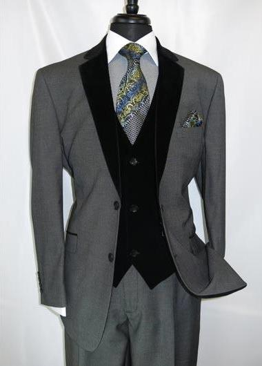 Men's Two Button Grey Suit, act now only $175.00