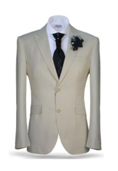 Men's Two Button Ivory Peak Lapel Suit, act now only $165.00