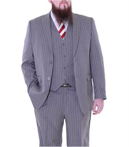 Men's Two Button Light Gray Suit, act now only $175.00