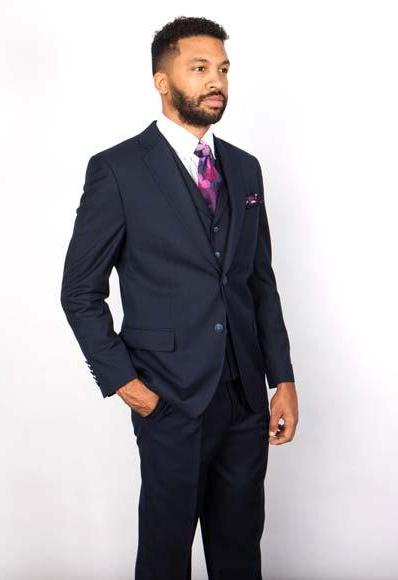 Men's Two Button Navy Suit, act now only $199.00