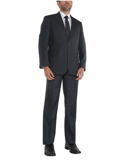 Men's Two Button Single Breasted Two-Piece Classic Fit Blue Suit, act now only $120.00