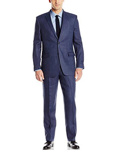 Men's Two Buttons Blue Suit, act now only $189.00