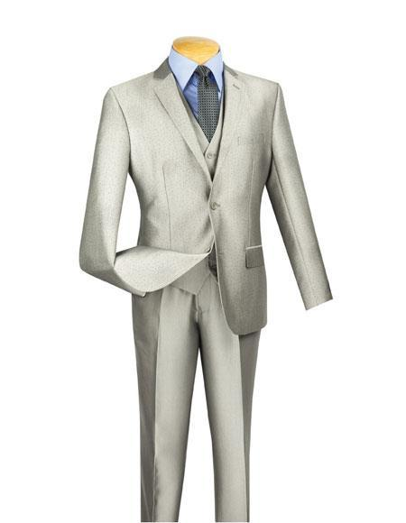 Men's Two Buttons Gray Suit, act now only $199.00