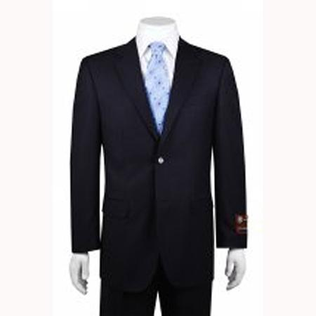 Mens 2-button Solid Navy Suit, act now only $149.00