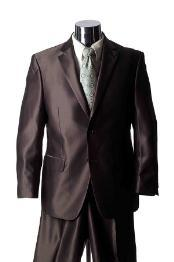 Mens 2 Button Style brown color shade Sharkskin Suit, act now only $189.00