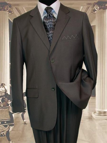 Mens 2 Button Style Extra Long Dark Grey Masculine color Grey Suit, act now only $199.00