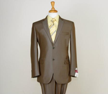 Mens 2 Button Style Light brown color shade Suit, act now only $189.00